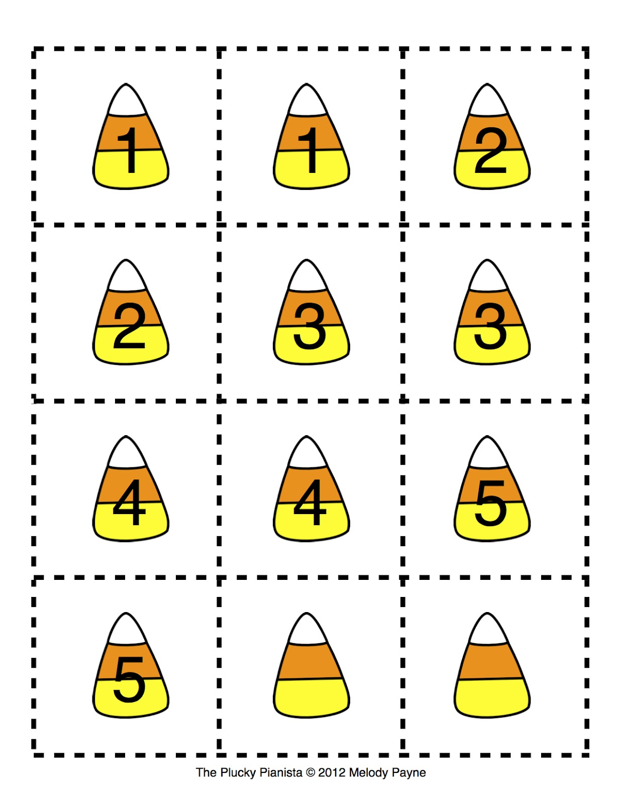 candy corn printable candy corn finger numbers