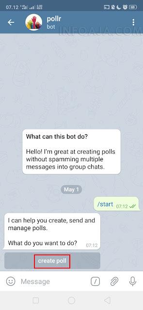 create poll di telegram