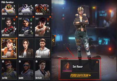Bundle Level Up Karakter free Fire revamped