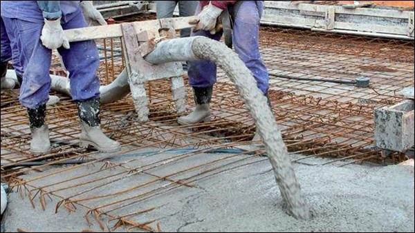 usando concreto usinado em central