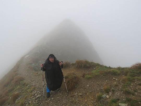 Na głównej grani Tatr.