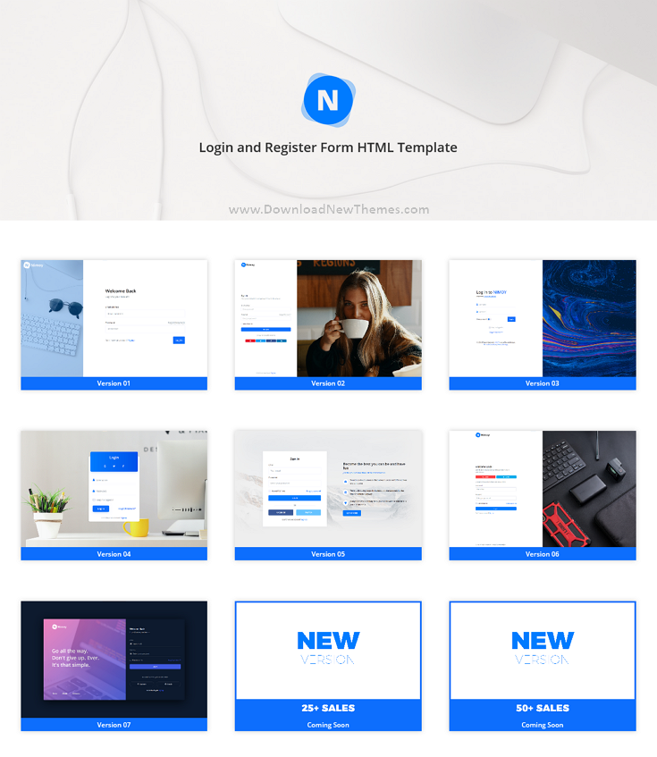 Login and Register Form HTML Template