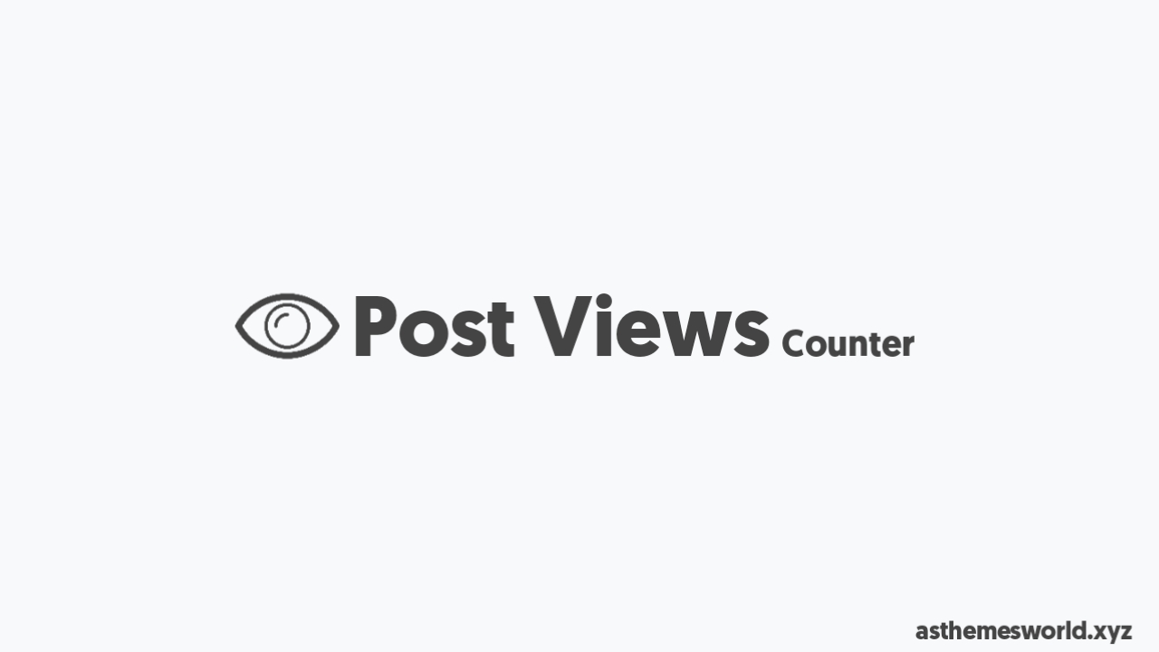 How to Add Post Views Counter in Blogger