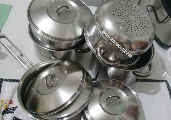 Amamos Cozinha: Panelas Inox Tramontina