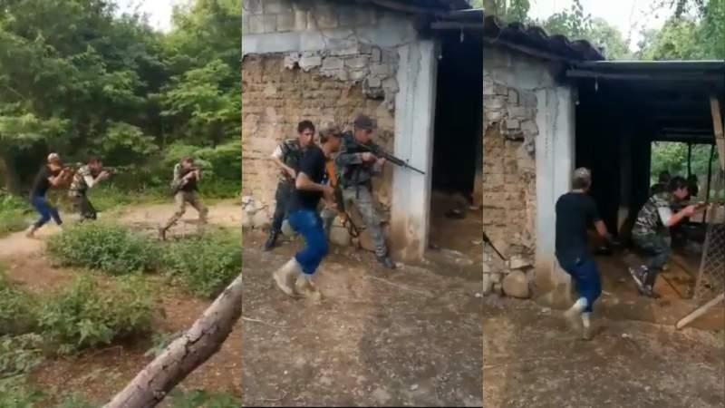 Sicarios se graban practicando cateos y tácticas, se presume son de La Familia Michoacana