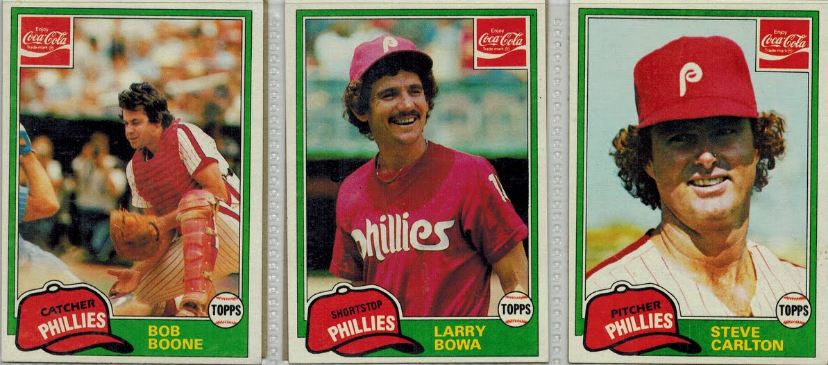 From A 1980s Baseball Card Collector 1981 Coca Cola Phillies
