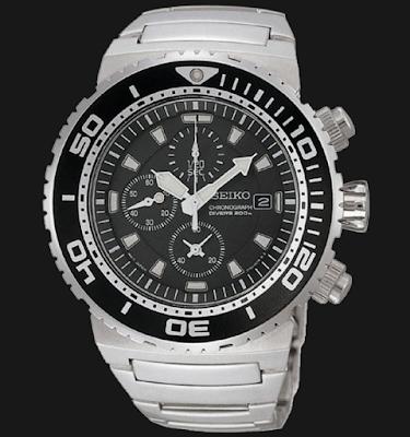 Seiko Chronograph SNDA13P1 Divers 200m Stainless Steel Bracelet