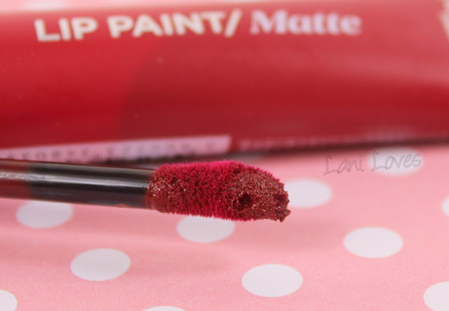 L'Oreal Lip Paint Matte - Apocalypse Red Swatches & Review