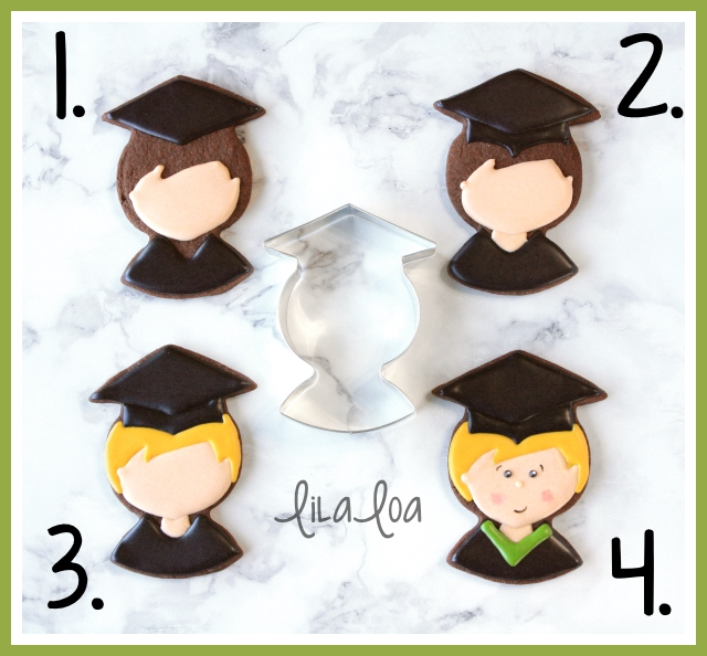 How to make boy graduation cookies