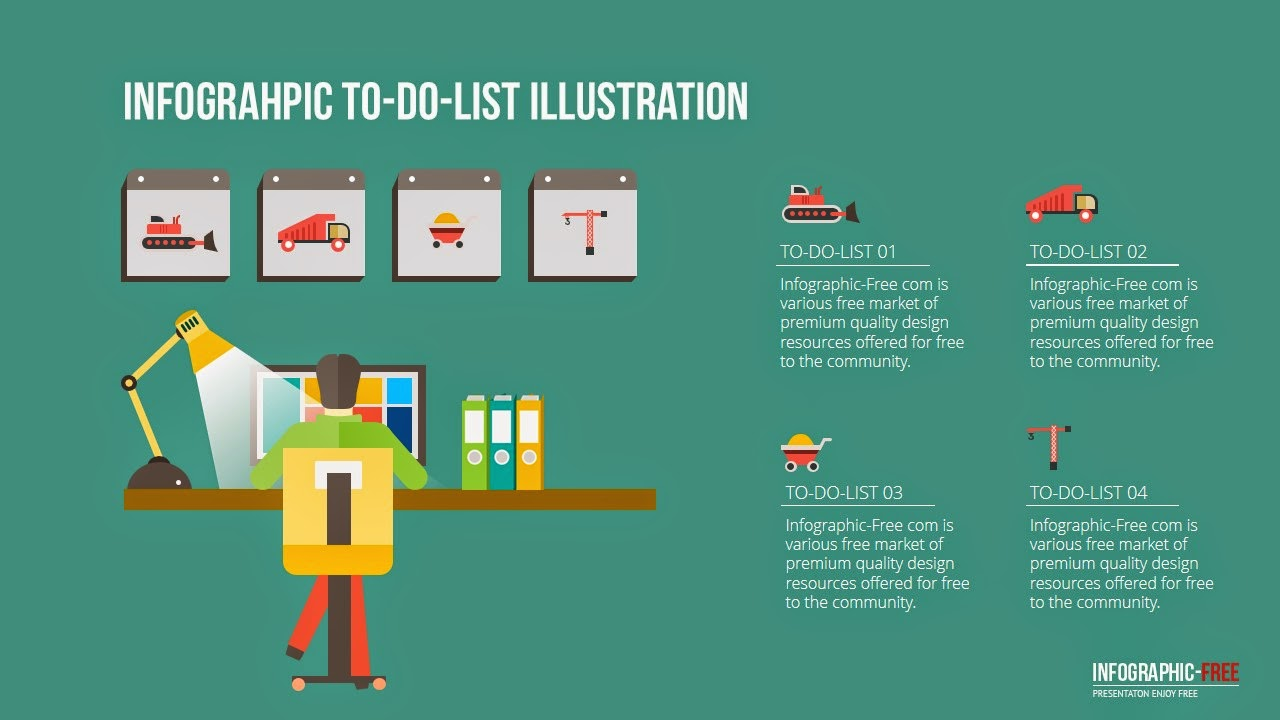 Flat design free powerpoint template with to do list infographicon flat design free powerpoint template with to do list toneelgroepblik Images