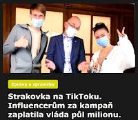 Strakovka na TikToku. Influencerům za kampaň zaplatila vláda půl milionu. - AzaNoviny