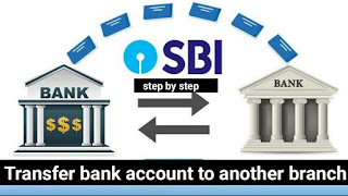transfer bank account to another branch