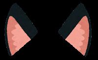 獣耳のイラスト(黒2)