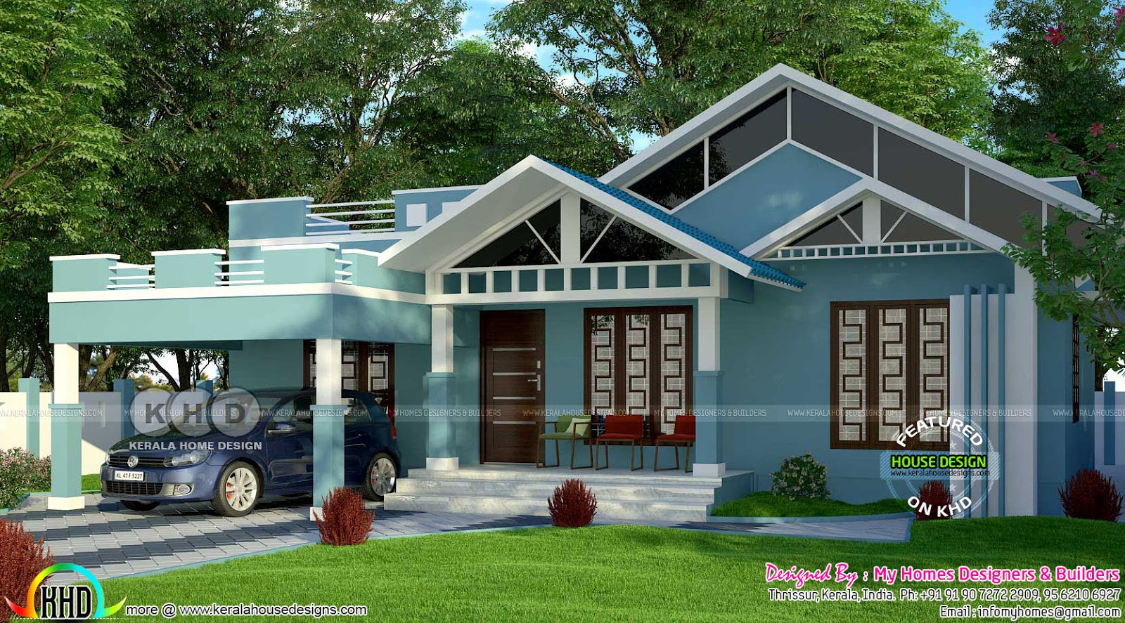 Total construction cost 22 lakh home kerala home design for What is the cost of building a house in india