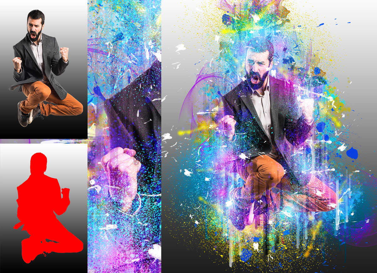 Abstract Painting Photoshop Action 2653992
