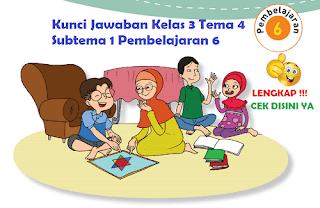 Kunci Jawaban Kelas 3 Tema 4 Subtema 1 Pembelajaran 6 www.simplenews.me