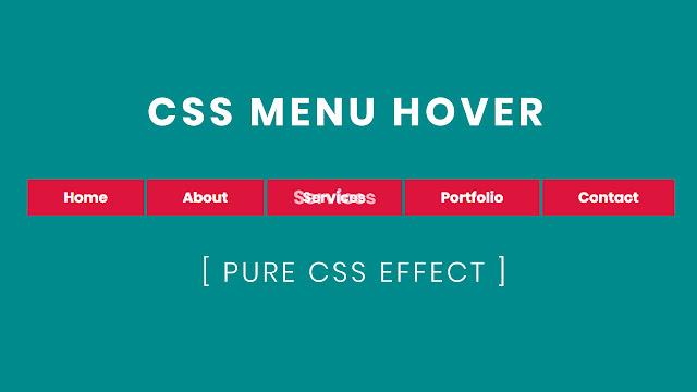 Creative Menu Hover Effects | CSS Menu Hover Effect