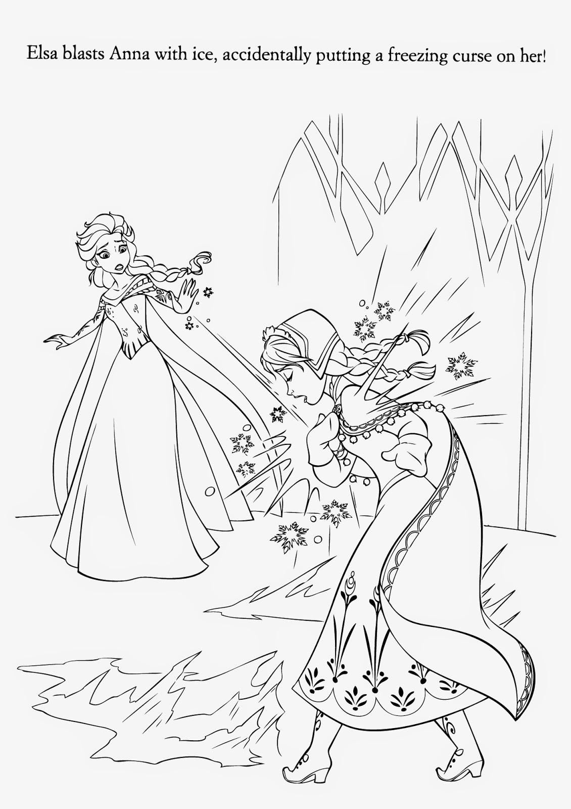 Frozen Coloring Pages Elsa Ice Castle Coloring Page