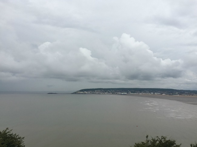 Mini-Breaks-and-Den-Building-view-of-Weston-super-mare-from-the-top-of-Brean-down