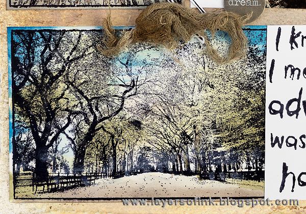 Layers of ink - Darkroom Door Photo Stamp Layout by Anna-Karin