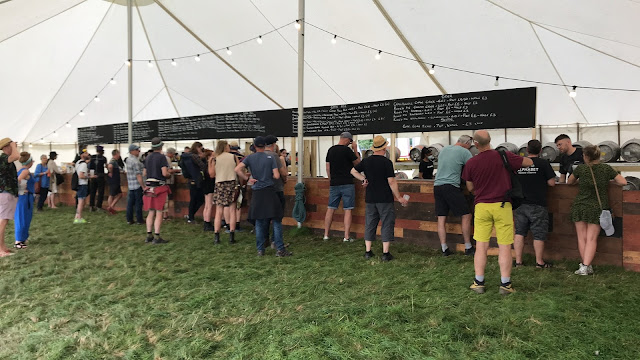Real ale and cider tent at End of the Road Festival 2021