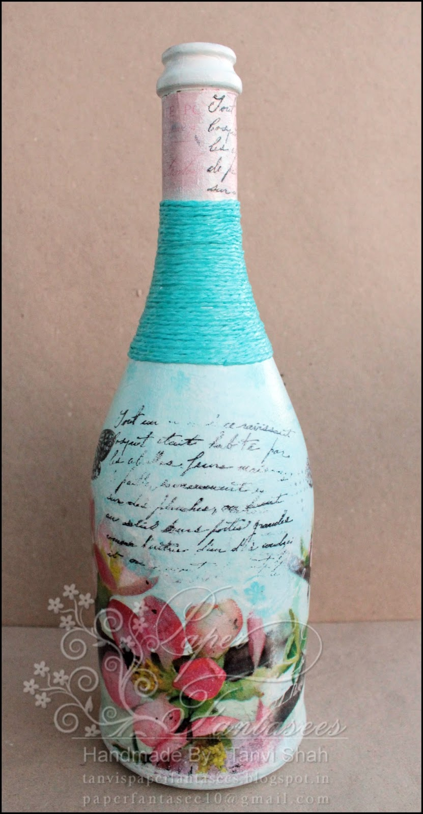 What you need to decoupage the bottle What you need to decoupage the novice 10