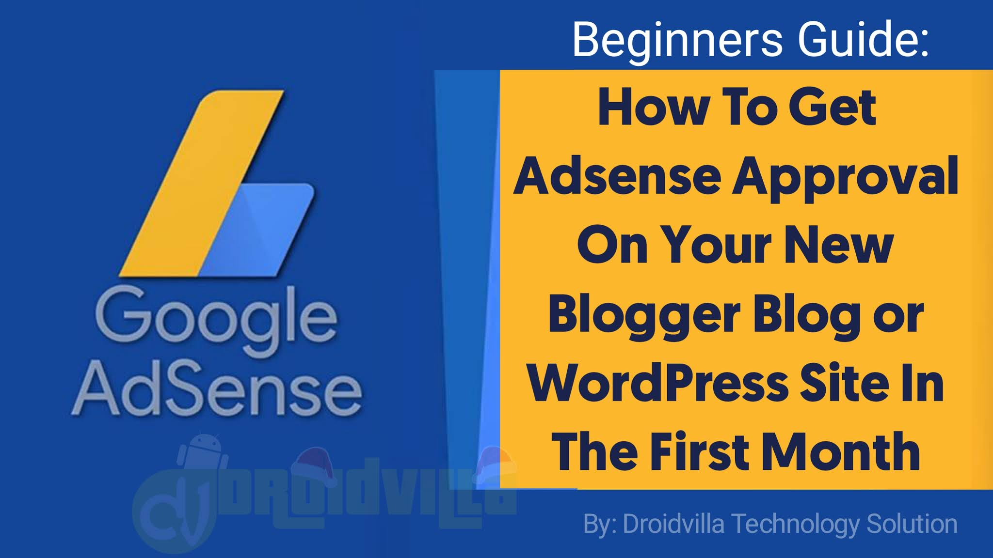 Adsense Approval on new sites