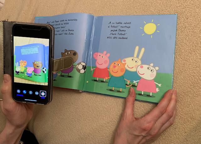 Čtení knihy pomocí aplikace Voice Dream Scanner