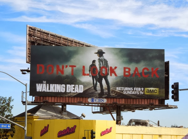 Walking Dead midseason 4 Dont Look Back billboard