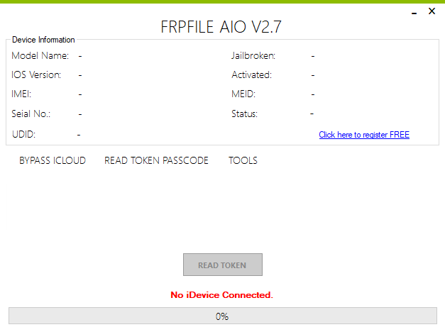 iFrpfile All In One iCloud tool V2.7.1 Latest