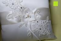 Schmuck: Hochzeit Ringkissen mit Satin Bogen 21cm* 21cm