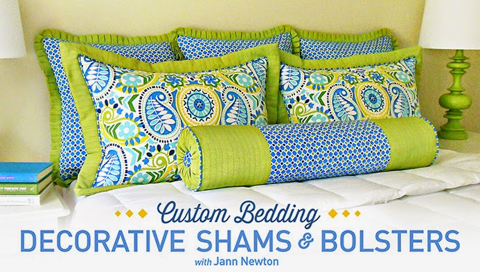 Custom Bedding: Decorative Shams & Bolsters with Jann Newton | A Craftsy Class Review on The Inspired Wren