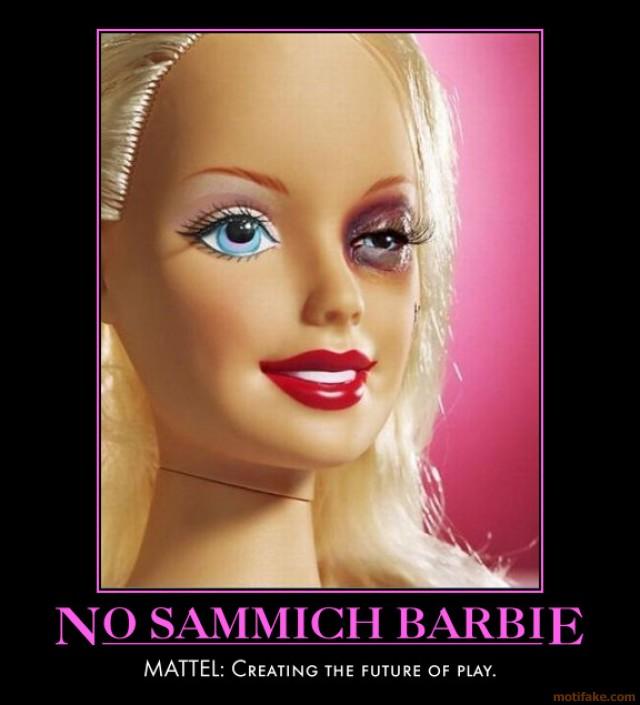 funny posterz no sammich barbie