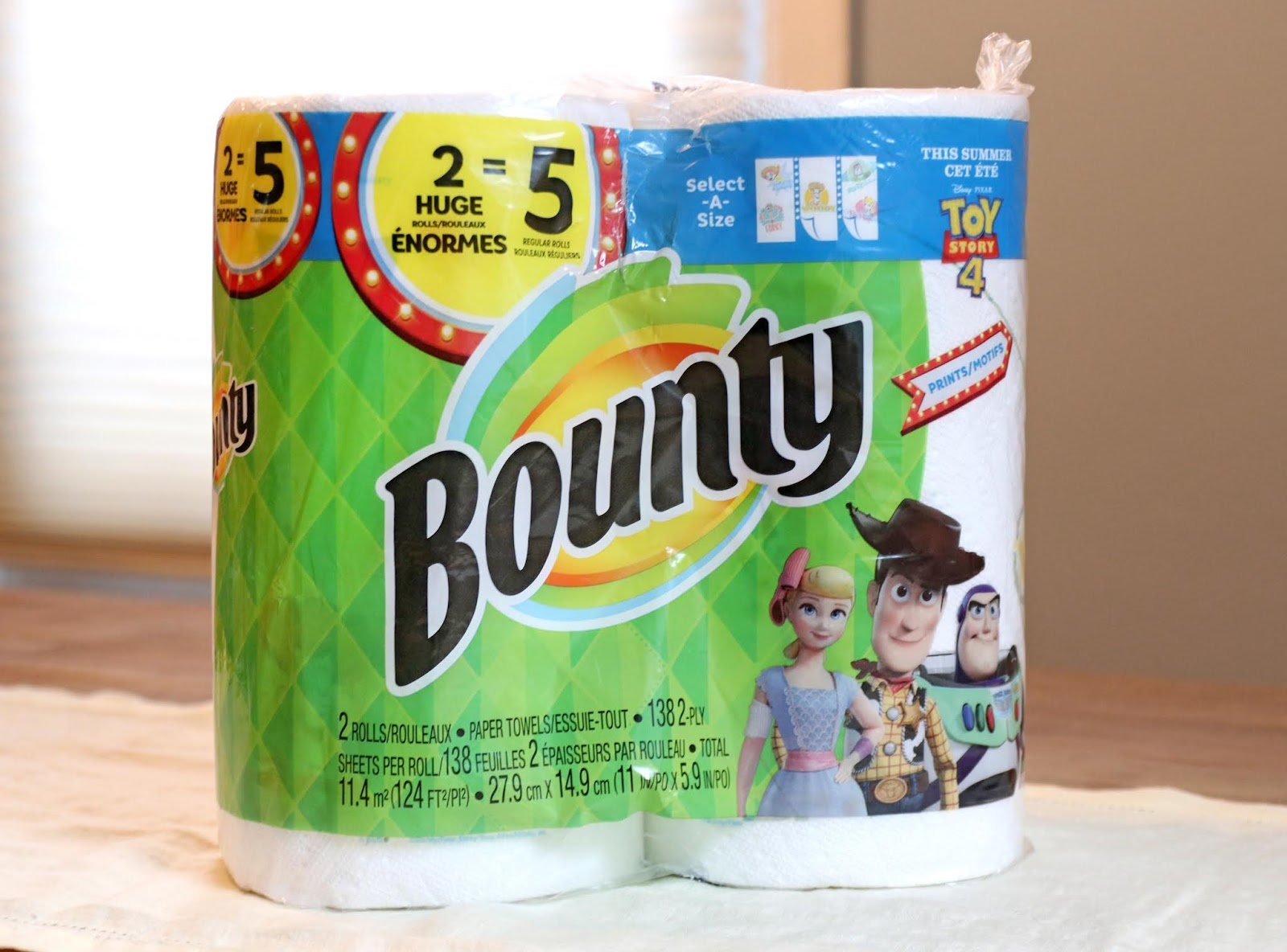 toy story 4 bounty paper towels