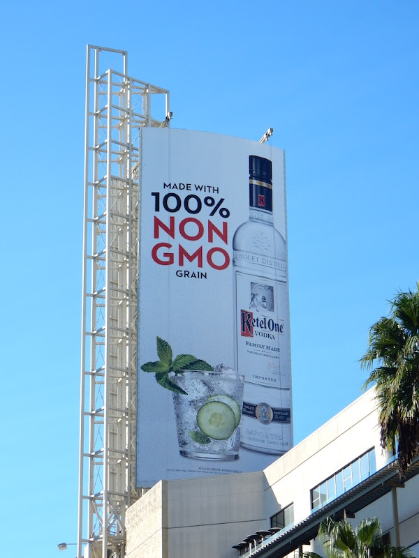 Ketel One Vodka non-gmo grain billboard