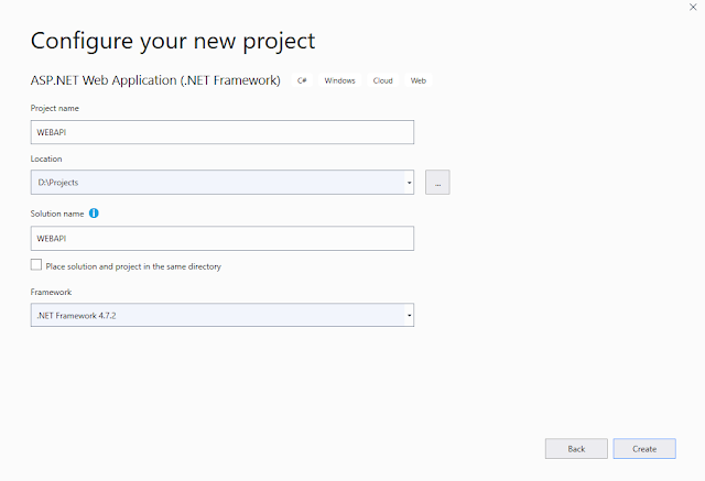 Create First Web API Hello World application with repository pattern