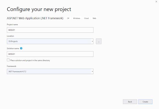 Create Web API Hello World First application