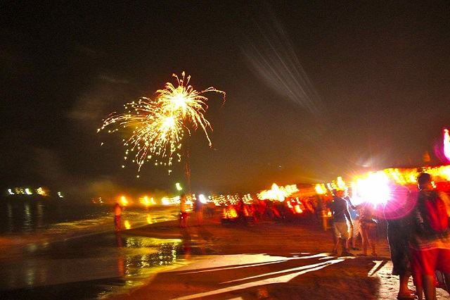 Diwali at baga beach in Goa