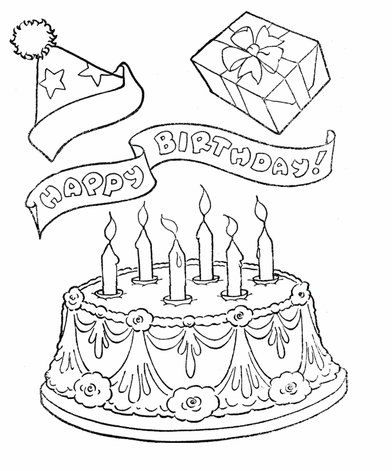 Gambar Mewarnai Kue Ulang Tahun 16