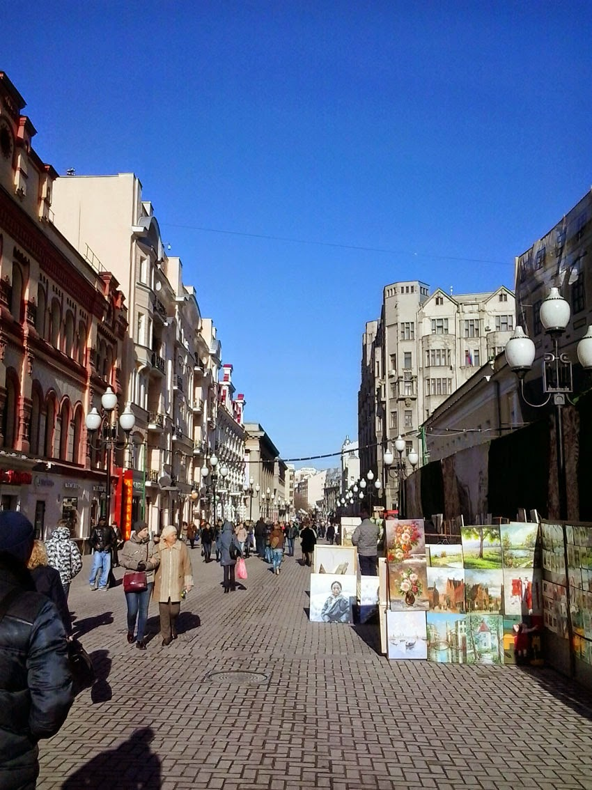 VreMax: Arbat Street in Moscow Today March 27, 2015