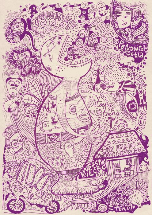 Sakit Perut Doodle