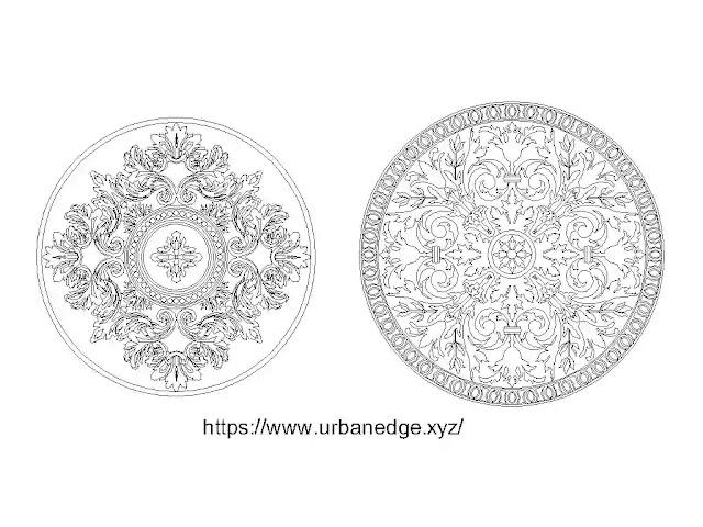 Decorative rosettes cad blocks free download - Dwg cad blocks