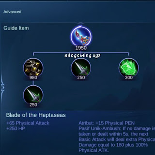 penjelasan lengkap item mobile legends item blade of the heptaseas