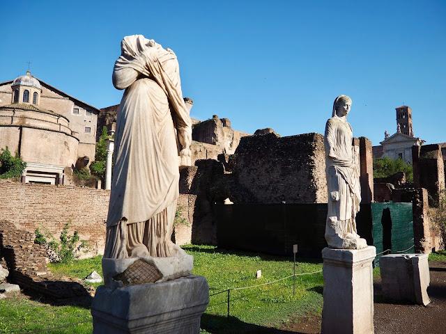 Vestal Virgins, Roman Forum, Rome, Italy