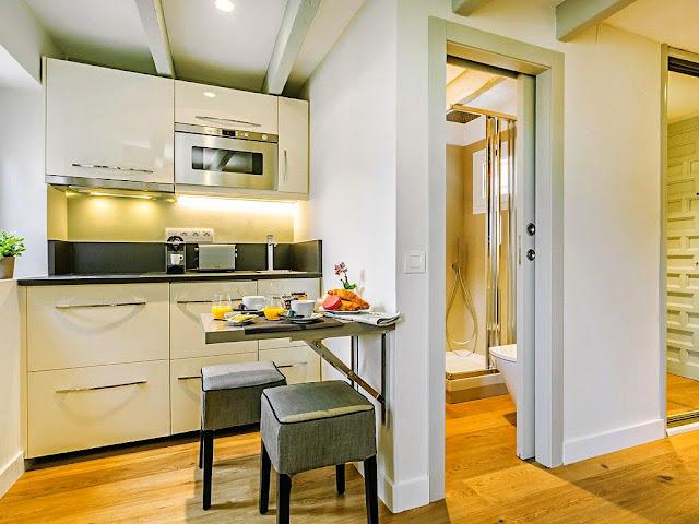 cocina moderna y baño