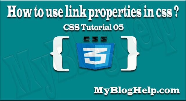 link properties in css