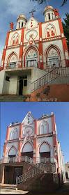 Antes e depois da destruição sacrílega dos símbolos católicos em Yining, diocese de Urumqi,