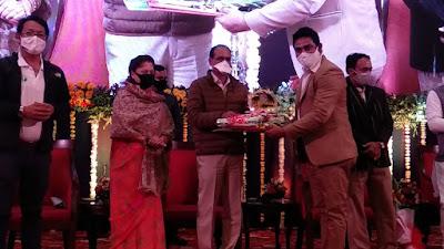 mp sports news with yashodhara raje scindia and shivraj singh chouhan