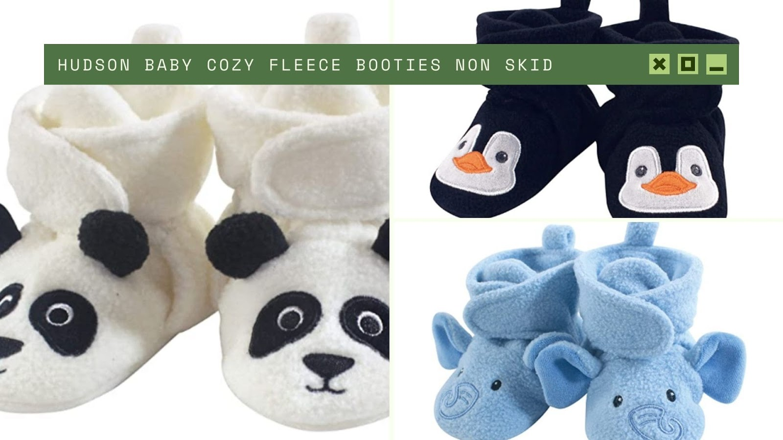 shopping for baby Hudson Baby Cozy Fleece Booties Non Skid
