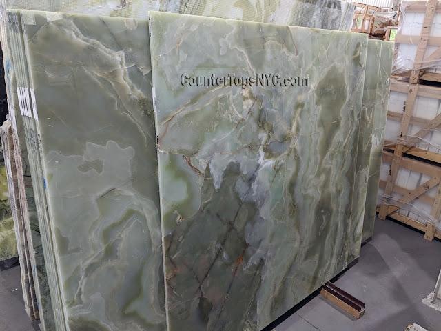 Green Onyx Marble Slabs NYC